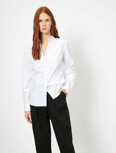 Koton Klasik Yaka Gömlek Beyaz